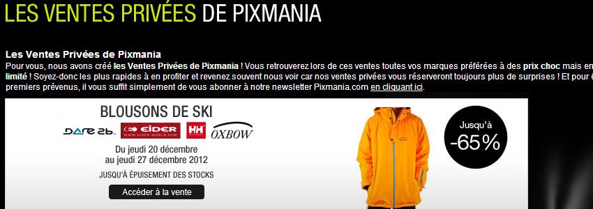 ventes privées pixmania