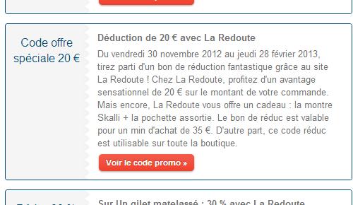 Frais de port offert la redoute - Code promo la redoute frais de port offert ...