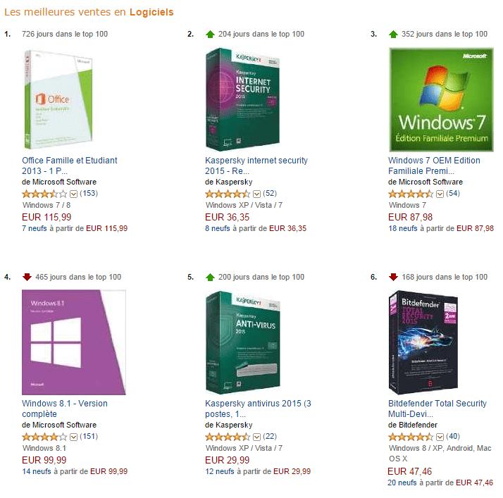 Meilleures-ventes-logiciels-sur-Amazon