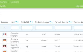 Modifier Langue sur Prestashop 1.6