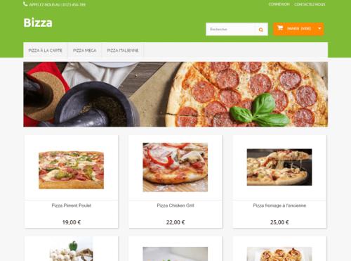 aperçu template pizza PrestaShop
