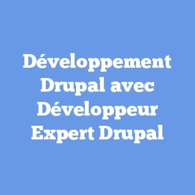 Développement Drupal avec Développeur Expert Drupal