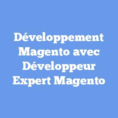 Développement Magento avec Développeur Expert Magento