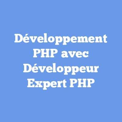 Développement PHP avec Développeur Expert PHP