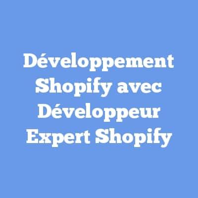 Développement Shopify avec Développeur Expert Shopify