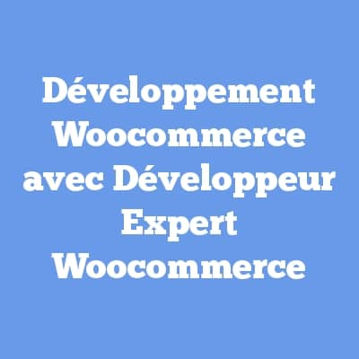 Développement Woocommerce avec Développeur Expert Woocommerce