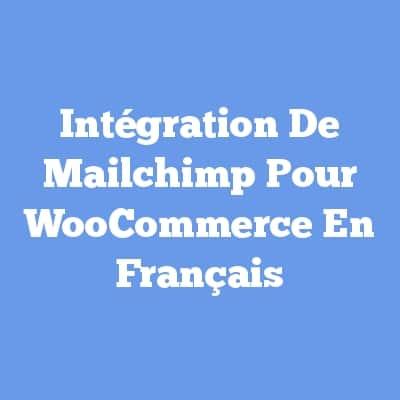 Intégration De Mailchimp Pour WooCommerce En Français
