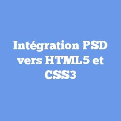 Intégration PSD vers HTML5 et CSS3