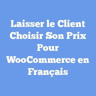 Laisser le Client Choisir Son Prix Pour WooCommerce en Français