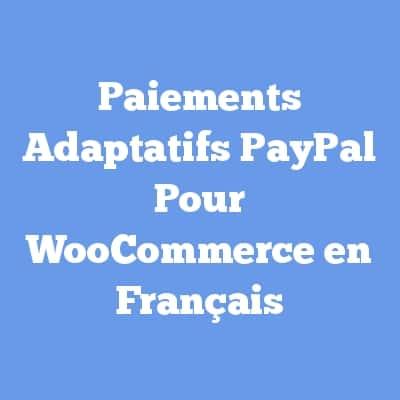 Paiements Adaptatifs PayPal Pour WooCommerce en Français